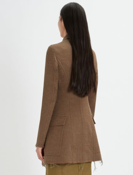 Fitted felted wool blazer