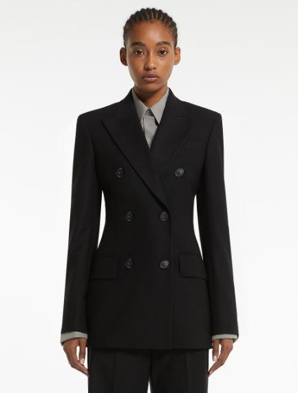 Slim-fit flannel blazer