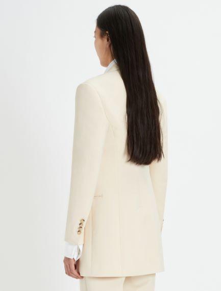 Slim-fit stretch canvas blazer