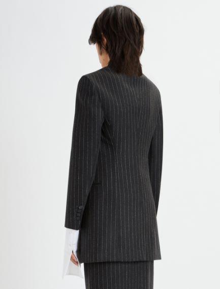 Slim-fit stretch flannel blazer