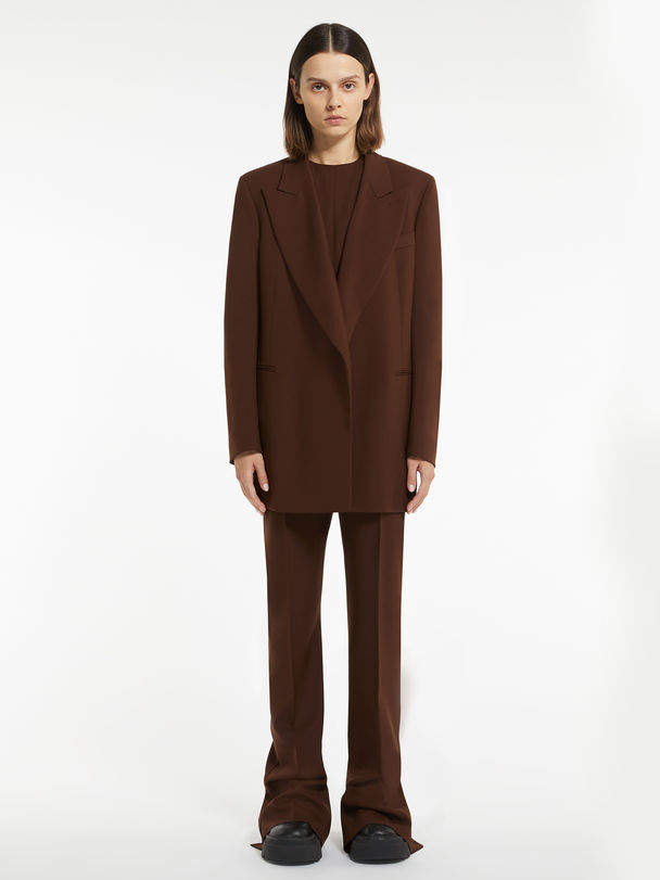 Tailored blazer in plain-coloured and melange cool wool