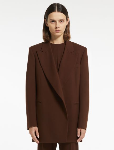 Tailored blazer in plain-coloured and melange cool wool Sportmax