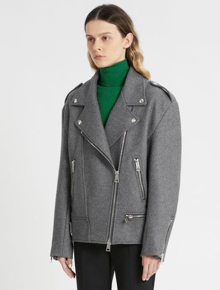 Felted cloth biker-style jacket