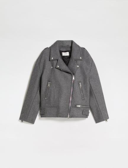 Felted cloth biker-style jacket Sportmax