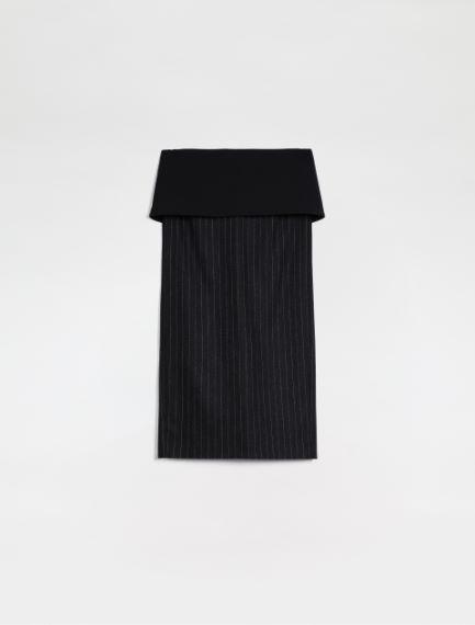 Pinstriped wool flannel pencil skirt Sportmax