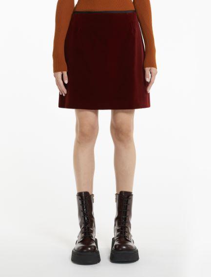 Velvet mini skirt Sportmax