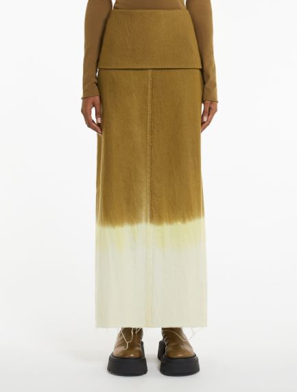 Tie-dye pencil skirt