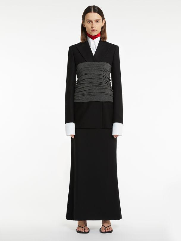 Flannel longuette skirt