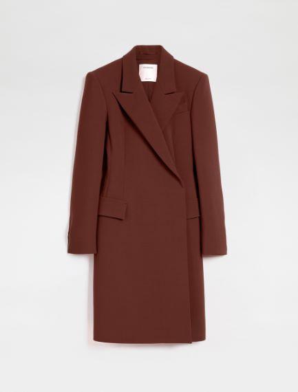 Stretch wool-blend duster coat