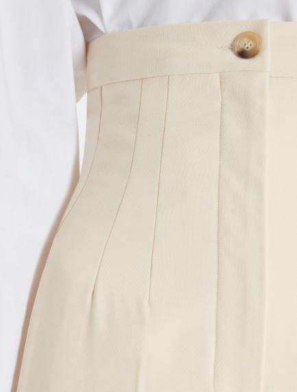 Stretch wool palazzo trousers