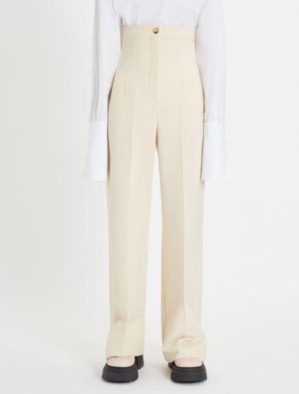 Stretch wool palazzo trousers Sportmax