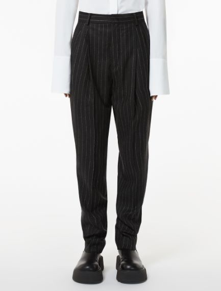 Flannel carrot-fit trousers Sportmax