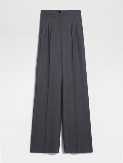 Flannel palazzo trousers