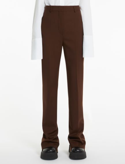 Extra-long wool trousers