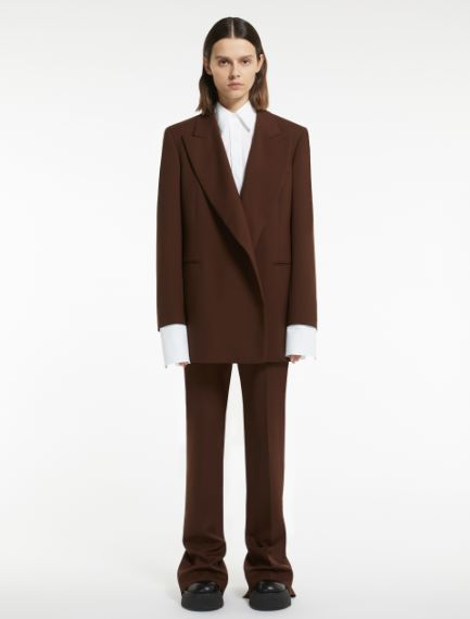 Extra-long wool trousers Sportmax