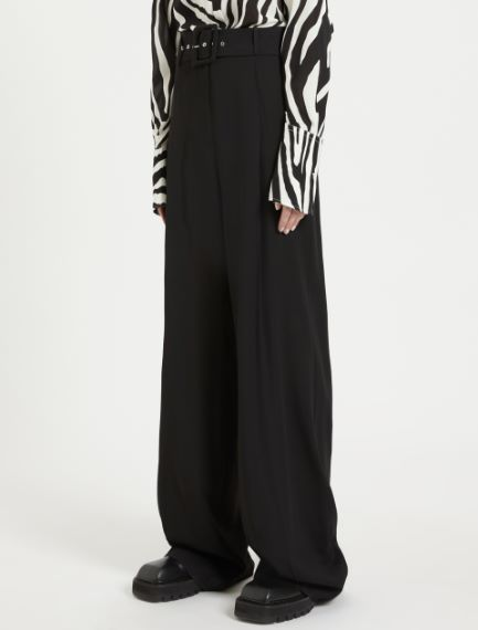Wide belted trousers