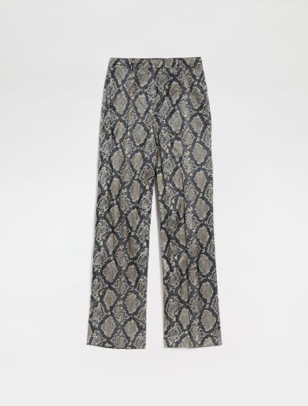 Printed satin trousers Sportmax