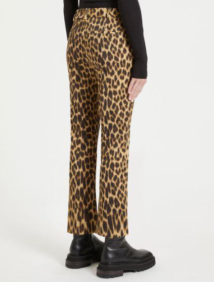 Animal-print trousers