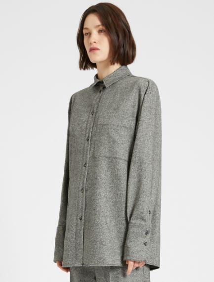 Wool Donegal tweed shirt