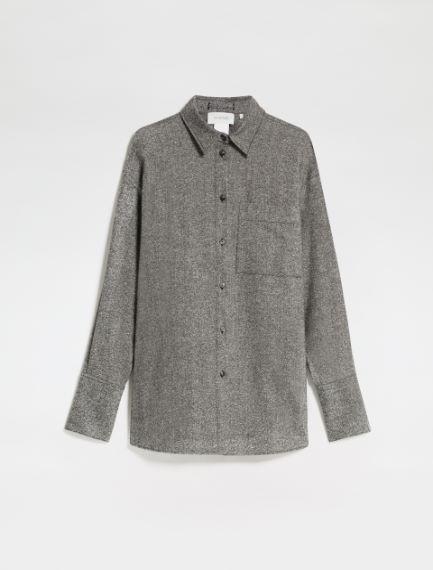 Wool Donegal tweed shirt Sportmax