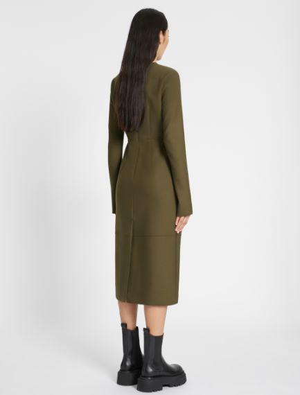 Wool midi dress