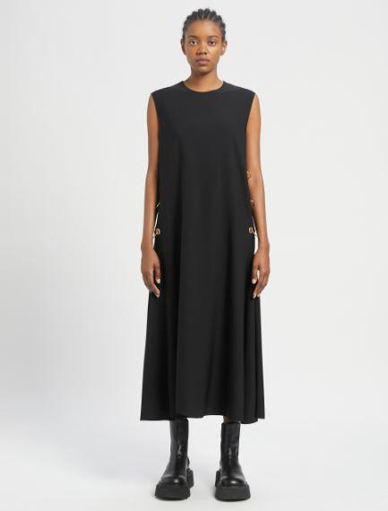 Sleeveless dress with side piercing detail Sportmax