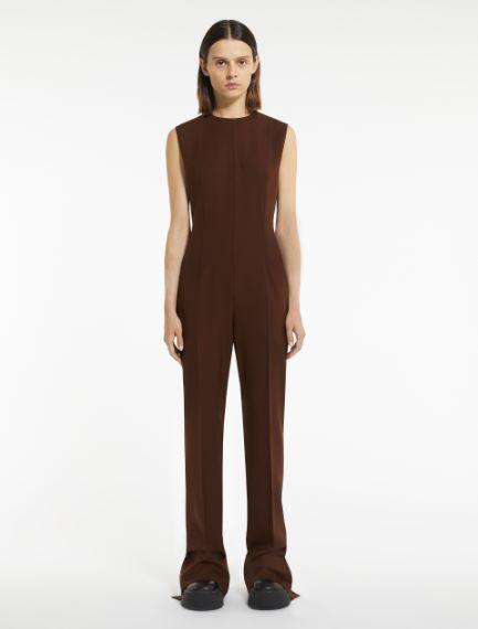 Cool wool sleeveless jumpsuit