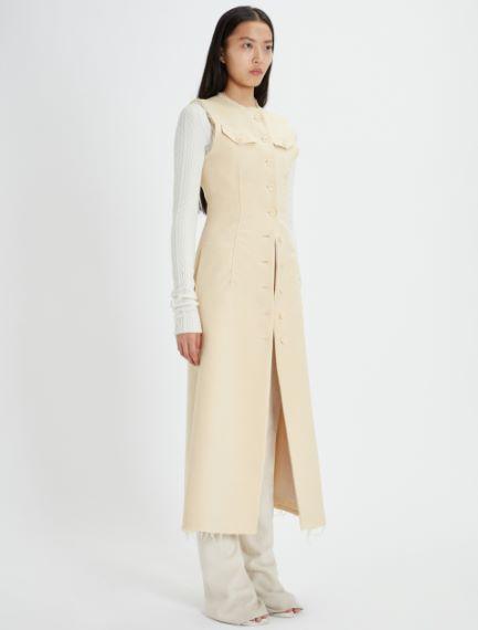 Long felted wool gilet