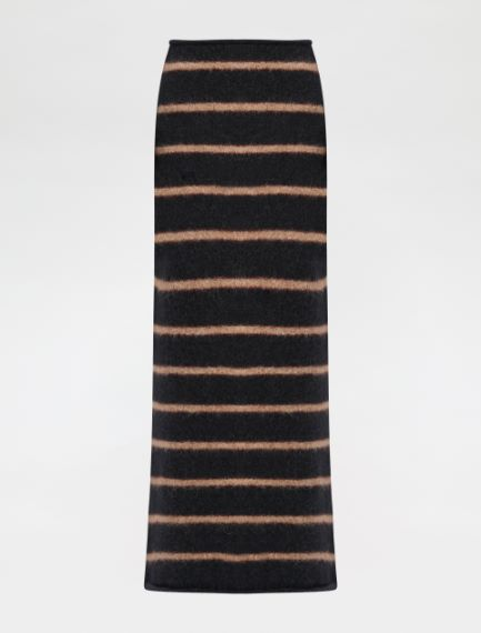 Felted-look knit skirt