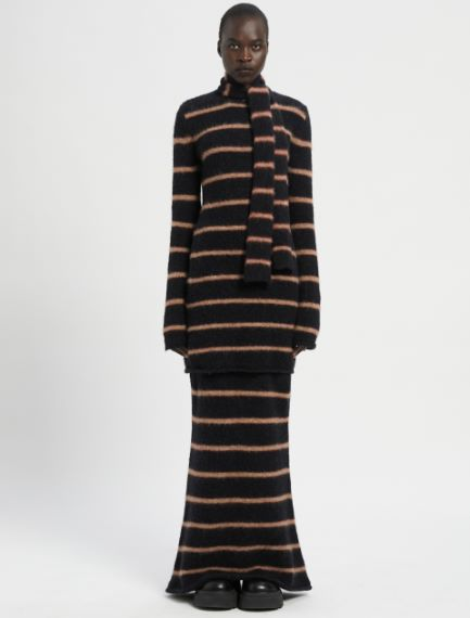 Felted-look knit dress