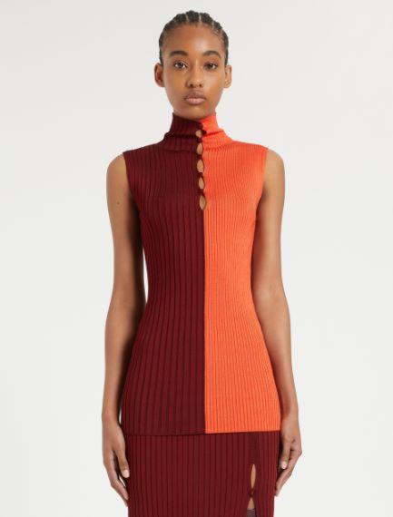 Sleeveless knit top Sportmax