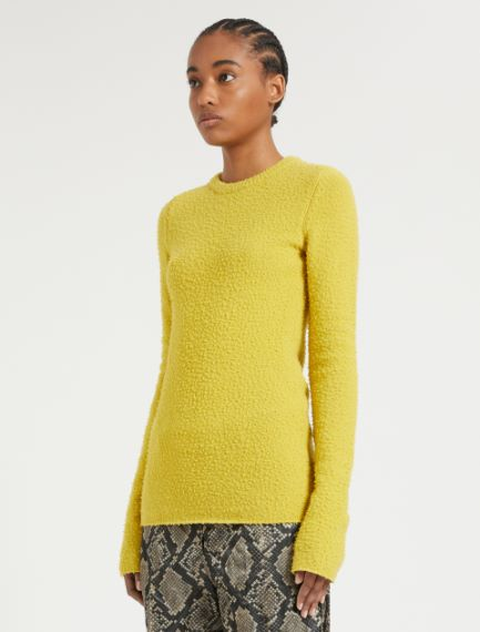 Wool and angora knit shirt
