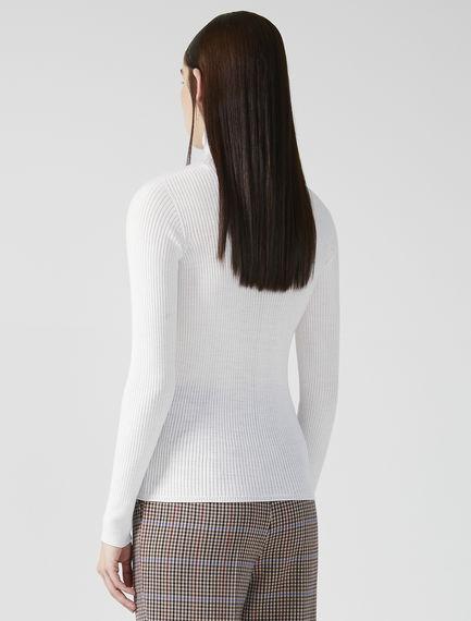 Rib-knit polo-neck sweater