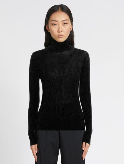 Rib-knit polo-neck sweater Sportmax