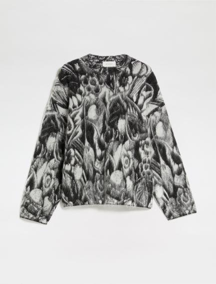 Jacquard wool boxy sweater Sportmax