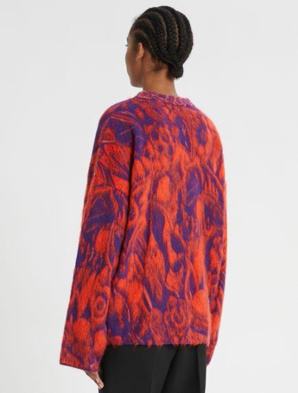 Jacquard wool boxy sweater