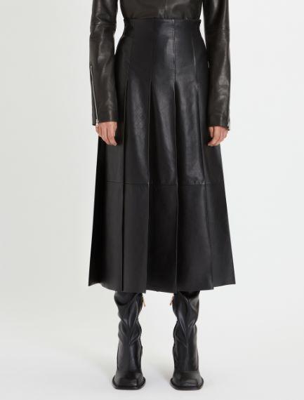 Nappa leather pleated skirt Sportmax