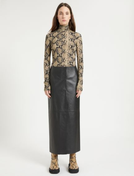 Nappa leather pencil skirt Sportmax