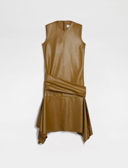 Sleeveless Nappa leather dress