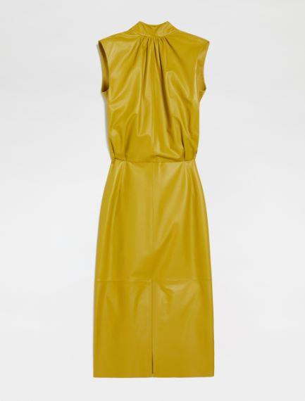 Sleeveless Nappa leather dress Sportmax