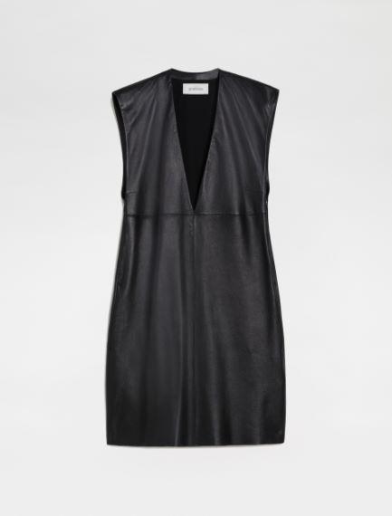 Nappa leather dress