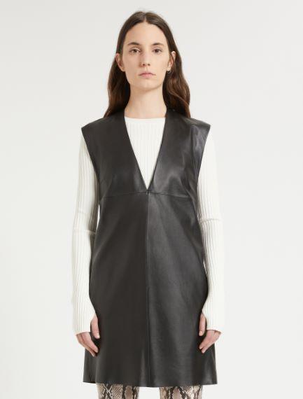 Nappa leather dress Sportmax