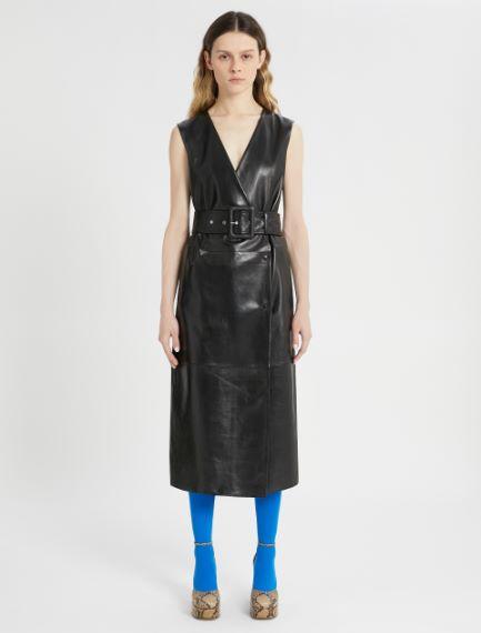 Nappa leather wrap dress Sportmax