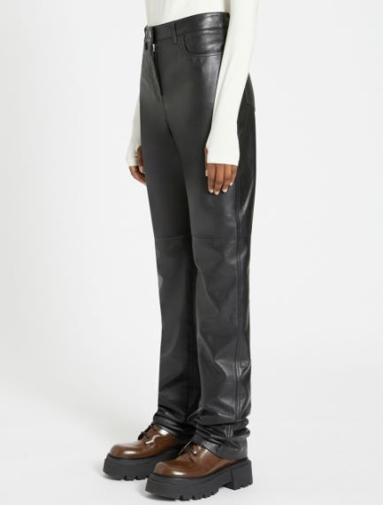 5-pocket Nappa leather trousers