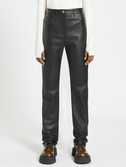 5-pocket Nappa leather trousers Sportmax