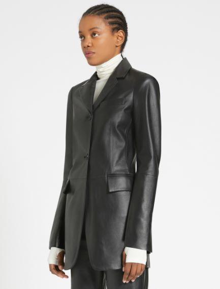 Slim-fit Nappa leather blazer