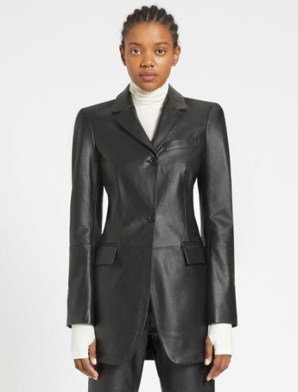 Slim-fit Nappa leather blazer Sportmax