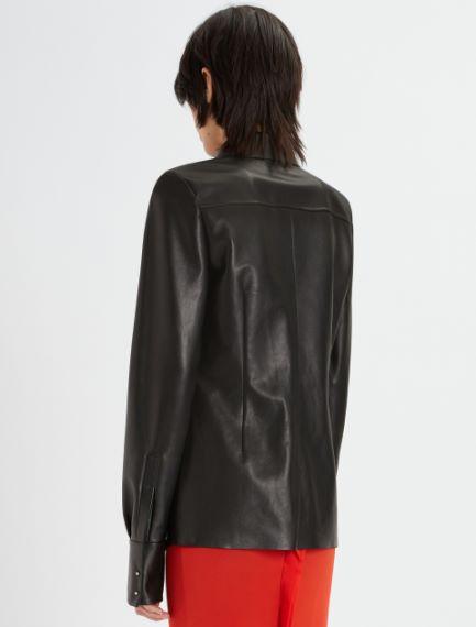 Nappa leather shirt