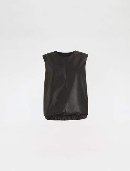 Sleeveless Nappa leather top Sportmax