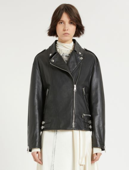 Nappa leather biker jacket Sportmax